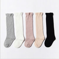 Baby Toddler Girls Cotton Knee High Socks Tights Leg Warmer Stockings For 0-3Y p