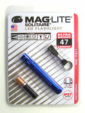 Fathers Day Maglite Solitaire LED 1 -Cell AAA Flashlight Keychain SJ3A116 Blue
