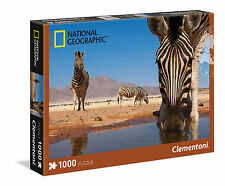 Clementoni Puzzle 1000 Teile National Geographic: Zebras am Wasserloch (39356)