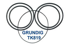SET BELTS GRUNDIG TK819 REEL TO REEL EXTRA STRONG NEW FACTORY FRESH TK 819