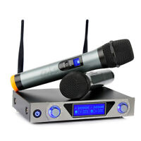 Wireless Pro Audio Microphone System bluetooth UHF 2Channel Mic Karaoke Handheld