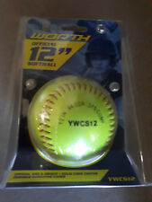 WORTH OFFICIAL 12 INCH SOFTBALL .44 COR 375 COMP SOLID CORK CENTRE *NEW*