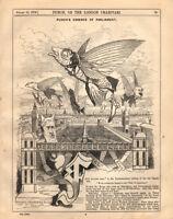Vintage Punch Cartoon August 1876 | Essence Of Parliament | Linley Sambourne