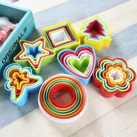 Colourful Plastic Cookie Biscuit Cutter Star Frill Flower Shape Pastry Mould