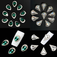10pcs Nail Art Tips 3D Decoration Glitter Rhinestone Alloy Jewelry Charm Set TR