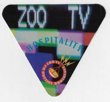U2 - Zoo Tv Tour / Unused Otto Satin Cloth Hospitality Backstage Pass !