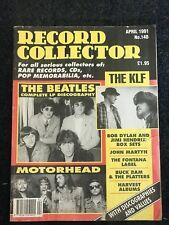 record collector magazine April 1991 Beatles, Motörhead, The KLF, Jimi Hendrix,