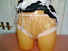Sissy Adult Baby clear pvc panties knickers waterproof sexy plastic fetish cd tv