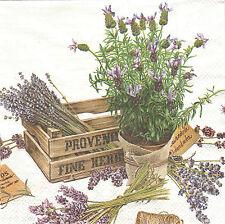 2 Serviettes en papier Lavande Decoupage Paper Napkins The Flavour of Provence