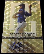2014 Leaf Perfect Game All-American Austin Smith Super Prismatic Auto Card #1/1