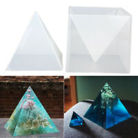 US 2 IN 1 Super Pyramid Silicone Mould DIY Resin Decor Jewelry Making Mold Craft