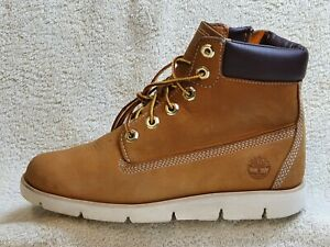Timberland Comfort Boots Leather Brown-Honey/White Zip UK 4 EUR 37