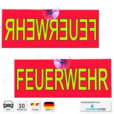 Feuerwehr Einsatz Wendeschild Normal & Spiegelschrift - im Schild Autoschild KFZ