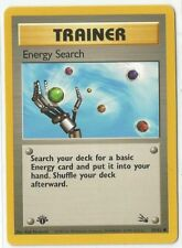 Pokemon 1st Edition Fossil set Energy Search Trainer 59/62 common NM Condition