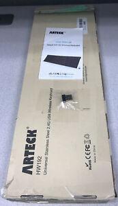 Arteck HW192 2.4G Wireless Keyboard Ultra Compact Slim Stainless