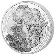 50 Francs African Ounce Galagos - Bushbaby Ruanda 1 oz Silber PP 2020 Proof