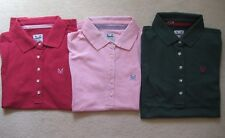 Ladies Ex Crew Clothing Company Classic Polo Shirt Top size 8-16 tape trim