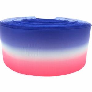 "Blue Pink White Ombre Stripe  3"" 75mm Grosgrain Ribbon per meter"