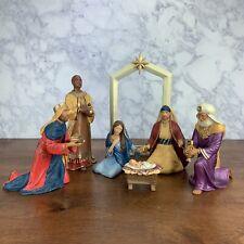 Hallmark 2005 Full Nativity Collection Porcelain Baby Jesus Mary Joseph Wisemen