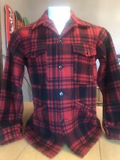 VINTAGE PENDLETON BUFFALO PLAID MACKINAW WOOL CRUISER JACKET COAT MADE IN USA