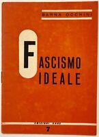 """RSI """"FASCISMO IDEALE"""" Barna Occhini libro edizioni Erre Rep. Sociale Italiana"""
