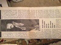 U1-6 ephemera 1971 article norman smith music producer
