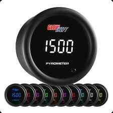 GlowShift 10 Color Digital Pyrometer EGT Gauge - GS-TCD08