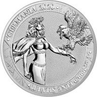 Germania 2020 5 Mark - Germania 1 Oz 999.9 Silver BU Coin, FIRST STRIKE!
