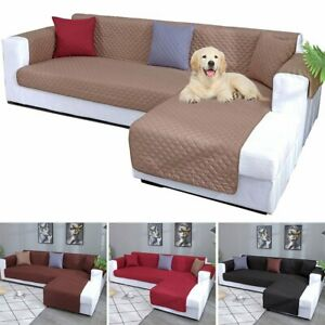 L Shape Sofa Slip Covers Quilted Sofa Chaise Lounge Cover Pet Couch Mat