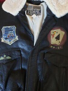 Vintage 80's Men Fly' Jacket. Sirocco' Sturdy Leather Bomber Jacket.
