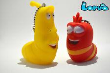 2PCS Funny Larva Keychain South Korean Comical Character Red & Yellow Larva