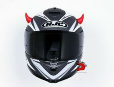 Cuernos del diablo rojo Para Casco Moto Bicicleta De Esquí Nieve