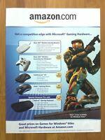 Halo 2 Xbox PC 2007 AMAZON Vintage Promo Print Ad/Poster Official H2 Art Rare
