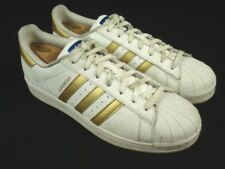 Adidas Super Star Sneaker Shoes White & Gold 789002 04/16 sz 10.5