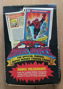1990 IMPEL MARVEL UNIVERSE SERIES I TRADING CARDS - 36 PACK, FULL BOX, HOLOGRAMS