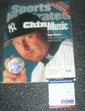 New York Yankees ROGER CLEMENS signed 3/1999  SPORTS ILLUSTRATED PSA DNA