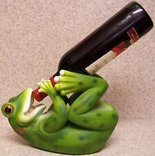 Wine Bottle Holder and/or Decorative Sculpture Frog Amphibian NEW