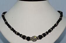 """$29,550 146.74Ct Black & White Diamond Beaded Necklace 18K Gold """"Very Rare"""""""