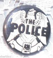 Vintage THE POLICE Musicians 70's 80's Promo Button Pin Badge Pinback RARE