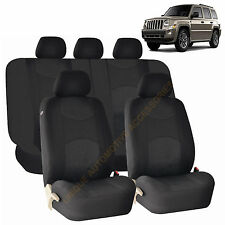 BLACK AIRBAG & SPLIT Bench SEAT COVERS 9pc SET for JEEP PATRIOT