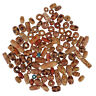 100X Wooden Mixed Large Hole European Beads for Crafts Jewelry Making Floral Lot