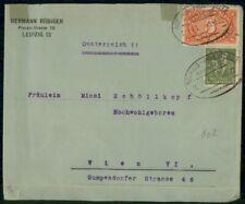 Germany 1922 Neuhaus-Probstzella to Wieh Austria TPO cover wwi 3715