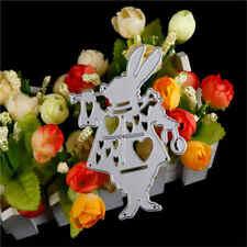 Alice Wonderland White Rabbit Metal Cutting Dies Stencil DIY Album Deco Craft FT