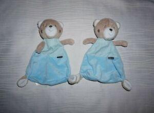2x Babydream Schmusetuch Bär blau Kuscheltuch Schnuffeltuch Rossmann TOP!