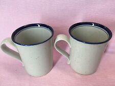2 Dansk Blue Mist Blue Inside Rim Coffee Cups Or Mugs