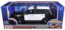 Motormax 1/18 LIGHTS & SOUNDS Blank Black & White Ford Utility Explorer Police