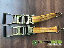 2x RATCHET TIE DOWN RATED 2500KG BODY ONLY FOR TRAILER UTE ARB RACK TRUCK