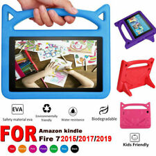 For Amazon Fire 7 2019/2017 Kids Safe EVA Rubber Handle Stand Tablet Case Cover