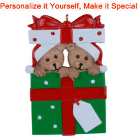 MAXORA  Bear Family Of 2 3 4 5 6 7 8 9 Personalized Ornament Christmas Gift