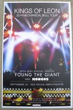 KINGS OF LEON Mechanical Bull Tour 2014 - Red Rocks 11x17 Poster Young The Giant